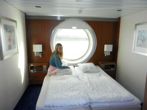 Tracy in our captains cabin