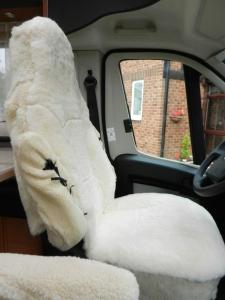 Furry Sheepskin Seats