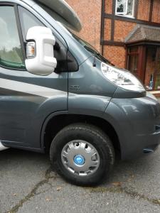 Shiny Knaus wheel Trims and Mirror Guard